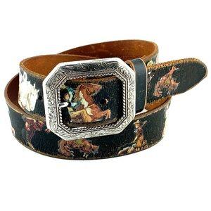 NOCONA | Vintage Style Cowgirl Print Western Belt